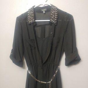 Black high/low dress